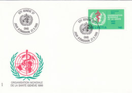 SCHWEIZ Dienst  OMS/WHO 40, FDC, WHO-Emblem, 1986 - Service