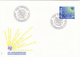 SCHWEIZ Dienst  UIT/ITU  15, FDC, 100 Jahre Radio, 1994 - Dienstpost