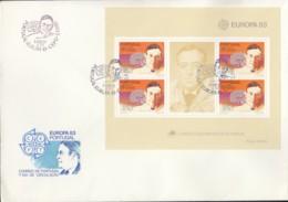 PORTUGAL Block 40, FDC, Europa CEPT: Große Werke Des Menschlichen Geistes, 1983 - Europa-CEPT