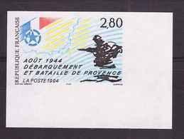 France 1994 N° 2895a Non Dentelé Neuf Luxe ** Cote 46€ Debarquement Et Bataille De Provence Aout 1944 - Francia