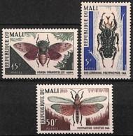 [828017]Mali 1967 - N° 101/03,  Insectes, SC - Mali (1959-...)