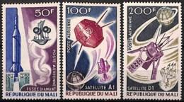 [828033]Mali 1967 - PA42/44, Satellites Français, Espace, SC - Mali (1959-...)