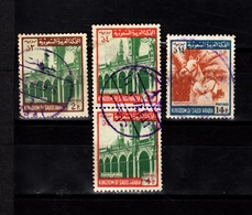 Saudi Arabia,1969- Expansion Of The Prophet Mosque & Horse Manship. Lot Of Four Stamps. CancelledNH. - Arabia Saudita