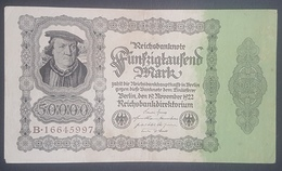 EBN12 - Germany 1922 Banknote 50,000 Mark Pick 79 Without Underprint - [ 3] 1918-1933 : Weimar Republic