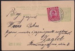Ljubljana - Maribor, Railway TPO, Nr. 36, Postcard, 4 Pinholes In Upper Part - 1919-1929 Kingdom Of Serbs, Croats And Slovenes