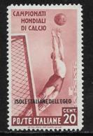 Italy Aegean Islands General Issue Scott #31 Mint Hinged Italy Sports Stamp, Overprinted, 1934, CV$87.50 - Aegean (Autonomous Adm.)