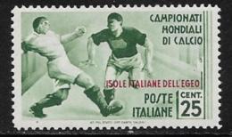 Italy Aegean Islands General Issue Scott #32 Mint Hinged Italy Sports Stamp, Overprinted, 1934, CV$87.50 - Aegean (Autonomous Adm.)