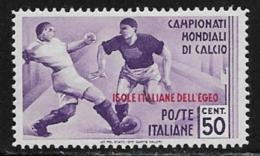 Italy Aegean Islands General Issue Scott #33 Mint Hinged Italy Sports Stamp, Overprinted, 1934, CV$340.00 - Aegean (Autonomous Adm.)