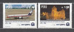 Peru - Correo 1998 Yvert 1127/8 ** Mnh Avi�n - Perù