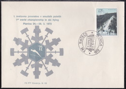 Yugoslavia, Planica 1972, Commemorative Cover And Cancellation - Jumping