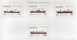 Malta - 1986 - Navi Maltesi - 4^ Serie - 4 Valori - Nuovi - Vedi Foto - (FDC14122) - Malta