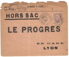 FRANCIA - France - 1948 - 4F Marianne De Gandon + Special Cancel Ambulant - Cachet Convoyeur De Bourg St Maurice à Chamb - Francia