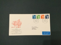 GB 1988 14-32p (4vals) Wales Machin FDC, PO Cover, Cardiff SpeciaI Postmark - FDC