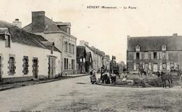 Serent  56   La Poste Et Le Carrefour Tres Animé-et Attelage Charette - Andere Gemeenten