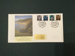 GB 2003 Wales Pictorials (4vals) FDC, PO Cover, Cardiff SpeciaI Postmark - FDC