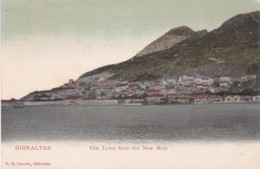 GIBRALTER - THE TOWN FROM THE NEW MOLE - Gibraltar