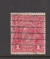 Australia SG 21g 1914 King George V,1d Red,Die II, Used - 1913-36 George V : Hoofden
