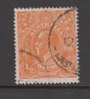 Australia SG 85 1927 King George V,half Penny Orange,Small Multiple Watermark Perf 14, Used - 1913-36 George V : Têtes
