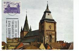Carte Maximum SOIGNIES - Collégiale Saint Vincent (1962) - Cartoline Maximum