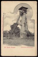 N'DALLA TANDO Observatorio Meteorologico. Old Postcard Ethnic METEO OBSERVATORY On Tree Top. ANGOLA PORTUGUESE AFRICA - Angola