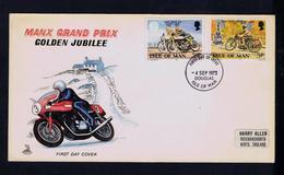 Manx Grand Prix GOLDEN JUBILEE Motos Motorbikes Sports ISLE OF MAN 1973 Fdc  Gc3771 - Moto
