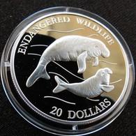Tuvalu 20 $ 1994 Lamantin Silver Proof - Tuvalu