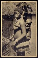 Mulher BIJAGOZ Com Filho GUNE BISSAU. Postal Alvão EXPOSIÇÃO COLONIAL PORTUGUEZA Porto. Nude Black Woman GUINEA - Porto