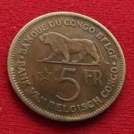 Congo Belgish 5 Francs 1937 Belgian - Congo (Belgian) & Ruanda-Urundi