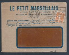 Journal Le Petit Marseillais De Perfin (PM). Perfin De 41 Trous. Perfin (PM) Newspaper 'Le Petit Marseillais'. Perfin 41 - Perfin