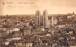 BRUXELLES - Eglise St. Gudule & Panorama - Panoramische Zichten, Meerdere Zichten