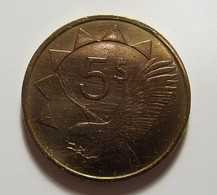 Namibia 5 Dollars 1993 Varnished - Namibia