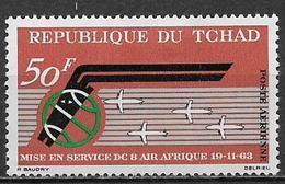 """TCHAD  1963 POSTA AEREA ANNIVERSARIO DELLA COMPAGNIA """"AIR AFRIQUE"""" YVERT. 10 MLH VF - Ciad (1960-...)"""