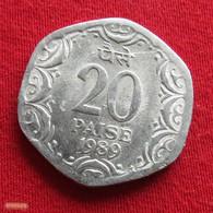 India 20 Paise 1989 (H) KM# 44  Inde Indien - Inde
