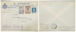 O) 1931 ARGENTINA, CONDOR ZEPPELIN, NORD DEUTSCHER LLOYD- E. ARNOLD COMPAÑIA DE NAVEGACION, AIRPLANE SCT C4 18c -EAGLE S - Covers & Documents