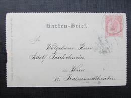 GANZSACHE Ziersdorf - Wien 1899 Kartenbrief //  D*36675 - Briefe U. Dokumente