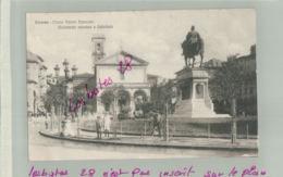 CPA ITALIE LIVERNO Piazza Vittiria Emanuele    Monumento Omonimo E Cattedrale  Personnages Fev  2019 009 - Livorno