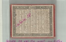 ALMANACH CALENDRIER  1835 Support Carton   Semestriel  Reversible  Second Emprire Napoléon III - Kalenders