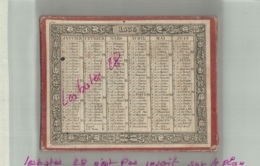 ALMANACH CALENDRIER  1835 Support Carton   Semestriel  Reversible  Second Emprire Napoléon III - Calendriers