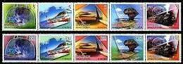 2006 Greeting Stamps Travel Camera Train Waterfall Canoe Park Sailboat Heart Railway Alpine Handbag - Climate & Meteorology
