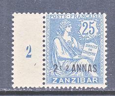 FRENCH  ZANZIBAR  43    Perf  14 X 13 1/2   * - Unused Stamps