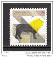 Canada, 2012, MNH, Astrologie, Astrology, Zodiaque, Zodiac, Lion, Leo, Félin, Wildcat - Astrologie