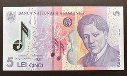 ROMANIA P118 5 LEI 1.07.2005 UNC POLY - Romania