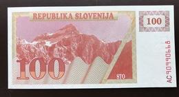 SLOVENIA P6 100 TOLAR 1990 UNC - Slovenië