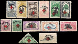235  Red Cross - Croix Rouge - Liberia Yv 153 à 165 - No Gum - 10,85 (60) - Croix-Rouge