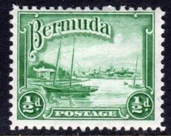 BERMUDA - 1936 1/2 PENNY SHIP STAMP FINE MINT MM * SG98 - Bermuda