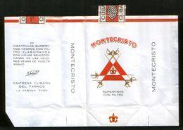 """Cuba. Cigarettes """"Montecristo"""", Pack + Excises Brand - Empty Cigarettes Boxes"""
