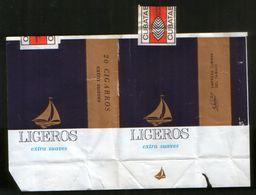 """Cuba. Cigarettes """"Ligeros"""", Pack + Excises Brand - Empty Cigarettes Boxes"""