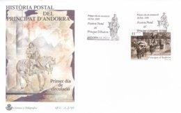 Spanish Andorra FDC 1999 Historia Postal Del Principat D'Andorra (G93-7) - Storia Postale