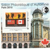 FRANCE 2015 CNEP N° 69 SALON D AUTOMNE A PARIS ADHESIF CANADA - CNEP