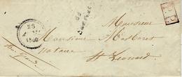 1849- Lettre Avec Cursive 81 / Sauviat  ( Hte Vienne)  + P.P.  Cad B Pour St Léonard - Postmark Collection (Covers)